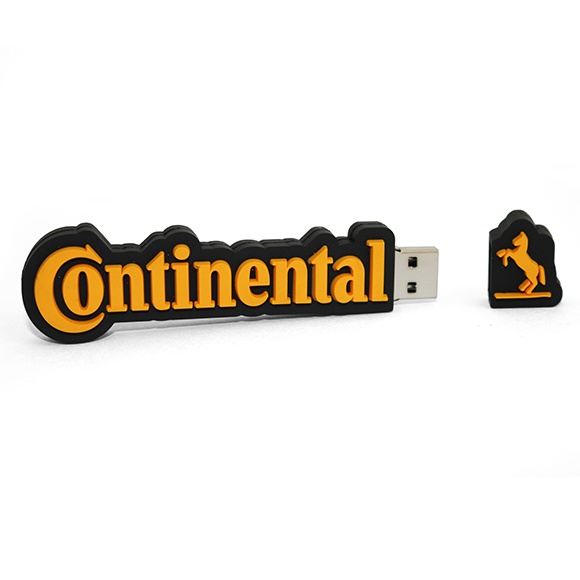 PEN USB feita de raiz com logotipo do cliente. Brinde feito em 3D soft rubber.
