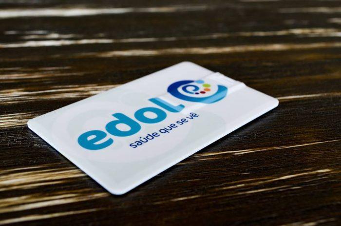 USB Cartão Credito EDOL, com AF do cliente. Impressão em ambos os lados com AF diferente.